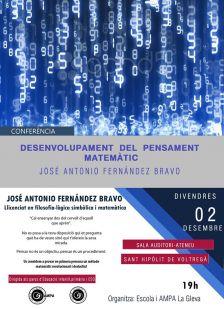 Conferència: Desenvolupament del pensament matemàtic