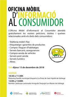 Oficina Mòbil d'Informació al Consumidor | Desembre 2018