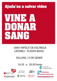 Cartell campanya donació sang | 15 gener 2018