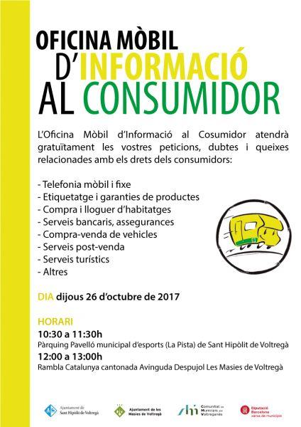 Oficina m bil d 39 informaci al consumidor al voltregan s for Oficina consumidor