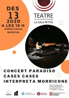 Cartell concert Carles Cases